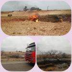 آتشسوزی خط لوله ۲۰ اینچ گاز کریت کمپ اهواز مهار شد