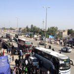 فراهم کردن حدود ۲۰۰ اتوبوس و کامیون برای جابه جایی زائران