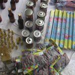 کشف نزدیک به ۱۰ هزار عدد انواع مواد محترقه غیرمجاز در اهواز