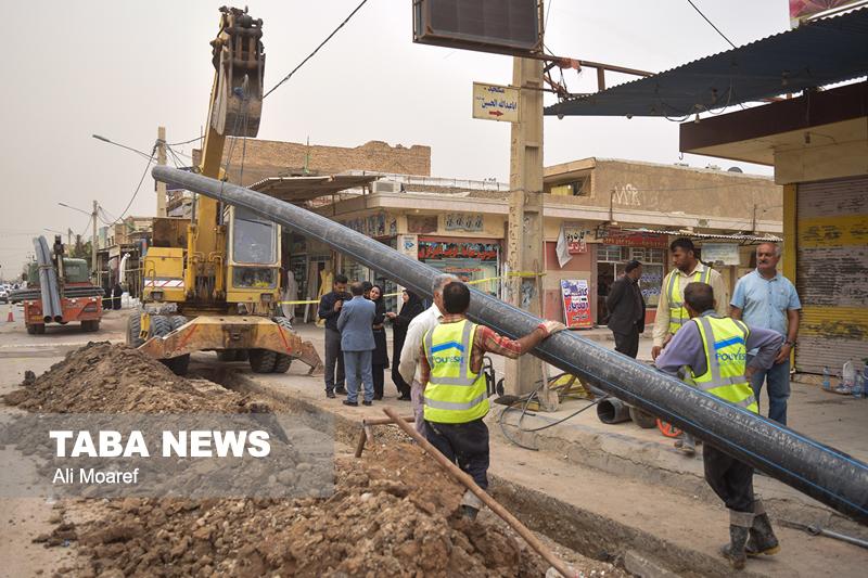 عملیات اجرایی بخشی از طرح جامع فاضلاب اهواز و کارون آغاز شد