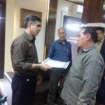 تجلیل از پایگاه خبری تابا توسط فرماندار امیدیه