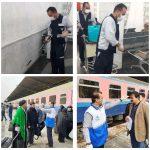 اقدامات پیشگیرانه و بهداشتی به منظور مقابله با شیوع ویروس کرونا در اداره کل راه آهن جنوب