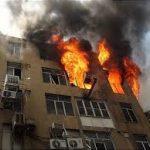 آتش سوزی در مجتمع مسکونی اهواز