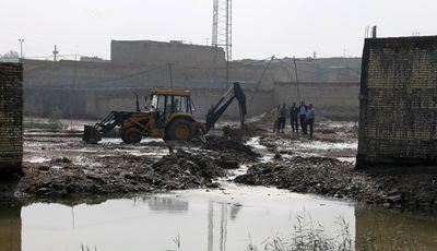 پروژه دفع آب های سطحی شهر اهواز کلنگزنی شد