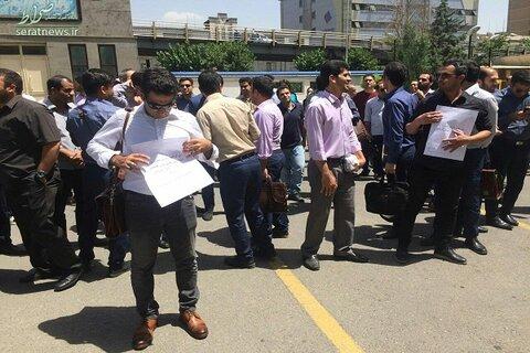 تجمع اعتراضی مرغداران خوزستان درب جهاد استان