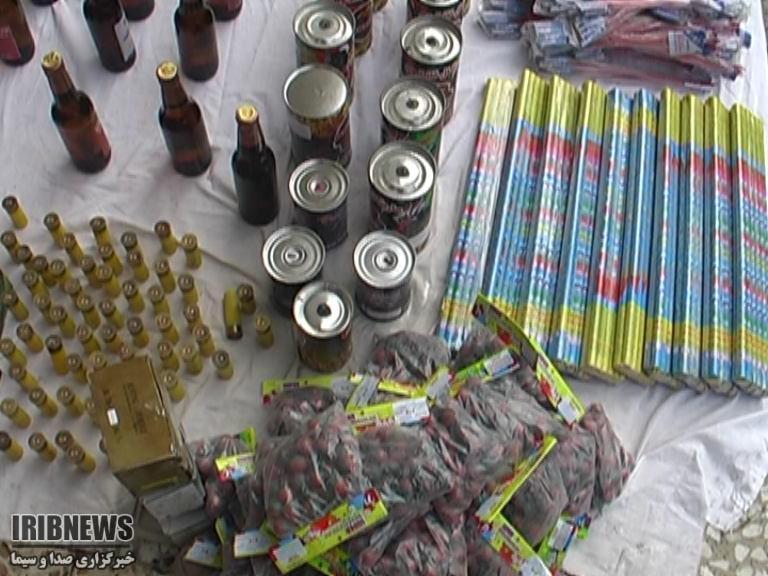 ۶ هزار قلم انواع مواد محترقه در آبادان کشف شد