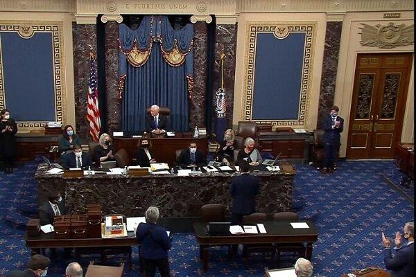 نشست کنگره برای تایید نتایج انتخابات آمریکا از سرگرفته شد