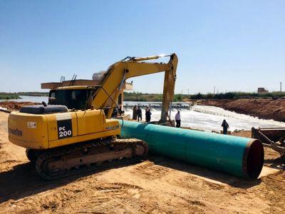 آغاز احداث سیل بند با بیش از ۱۳۰۰ مترطول وبا ارتفاع ۳ متر در اهواز