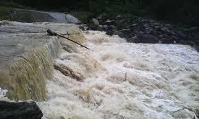 رودخانه شهرستان باغملک سیلابی شد
