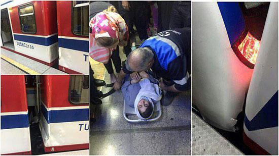 فیلم تصادف قطار مترو در تهران