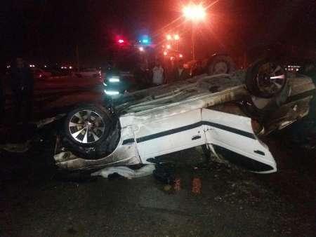 واژگونی ۲ خودرو در شوش با یک کشته و یک زخمی