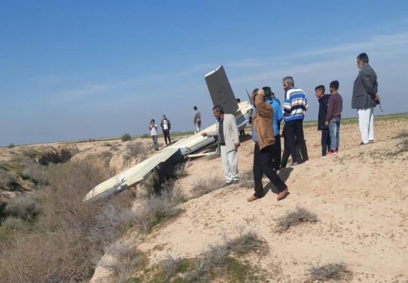فرود اضطراری پهپاد آموزشی سپاه در بستان