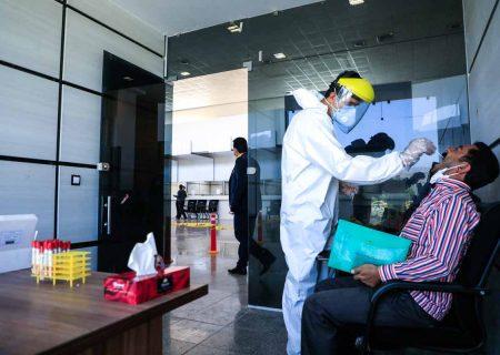 مرکز نمونه گیری تست کرونا در پایانه های مسافربری اندیمشک راهاندازی شد