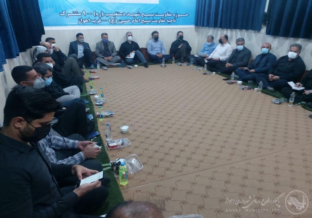 بازدید سرپرست شهرداری اهواز از کوی عین دو و پیگیری مشکلات شهروندان