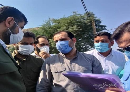 بازدید استاندار خوزستان و شهردار اهواز از پروژه های طرح ضربتی آبهای سطحی