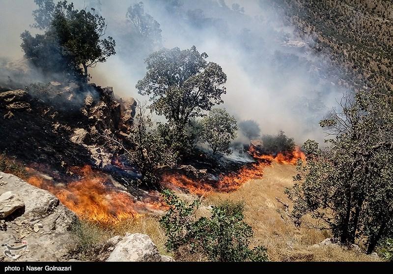 آتشسوزی در شیمبار رو به گسترش است